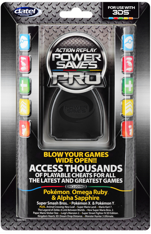 Action Replay por Power Saves PRO en 3DS/2DS