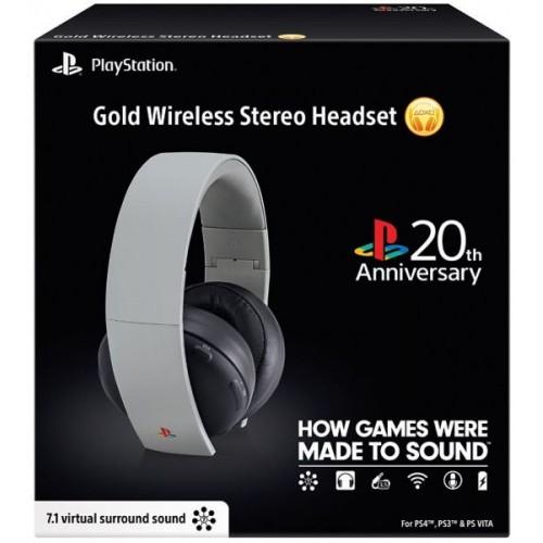 Audifonos Edicion Limitada Headset Gold 20 Aniversario Playstation PS3, PS4, PSVita 7.1 Sorround