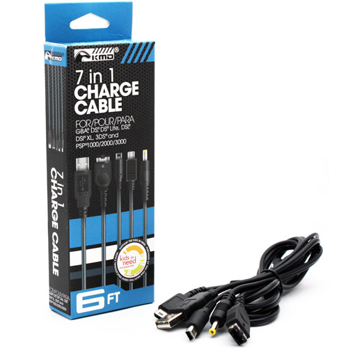 Cable 7 in 1 - Compatible con GBA, DS, DS Lite, DSi, DSi XL, 3DS, PSP