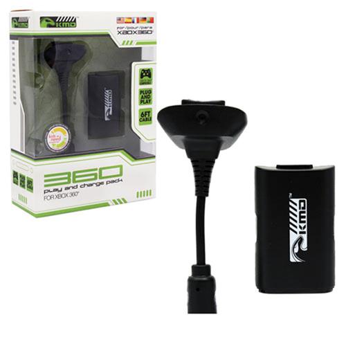 1 Carga Y Juega Pack Xbox 360 Negro