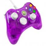 Control Alambrico Rock Candy Morado Xbox 360 Leds