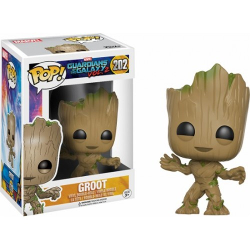 1 Groot Guardianes De La Galaxia Marvel N°202 Pop Funko.